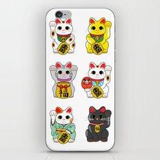 Lucky Cat / Maneki Neko iPhone & iPod Skin