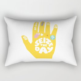 Seize the day – Sunshine hand Rectangular Pillow