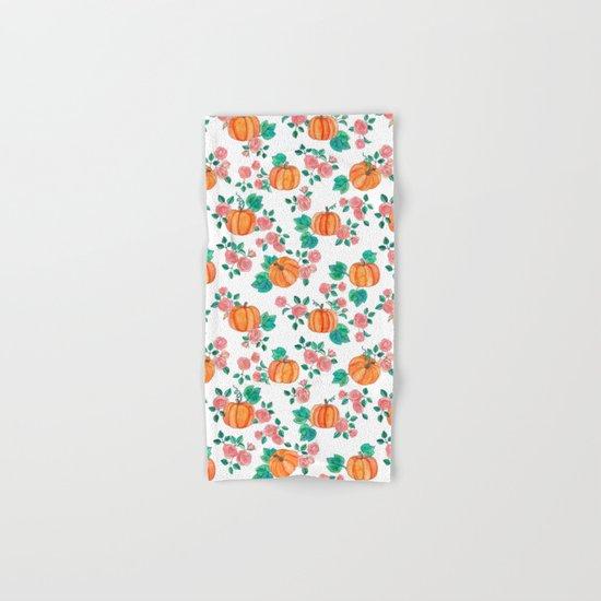 Pumpkins and Roses Hand & Bath Towel