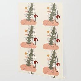 Minimal Line Palm Wallpaper