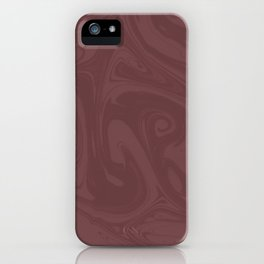 Pantone Red Pear Abstract Fluid Art Swirl Pattern iPhone Case