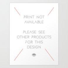 FEAR LOVE / LOVE FEAR Art Print