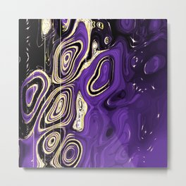 Nonbinary Pride Abstract Textured Whorls Painting Metal Print
