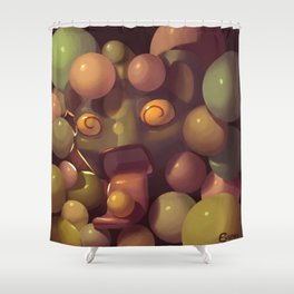 Crazy About Gumballs Shower Curtain
