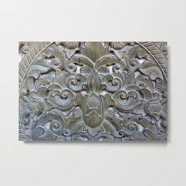 Stone Carving Metal Print