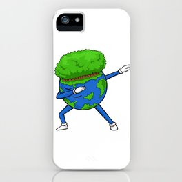 Happy Earth Day - Funny Dabbing Earth iPhone Case
