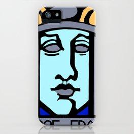 Jugendstil Einfuhrmesse Frankfurt blue iPhone Case