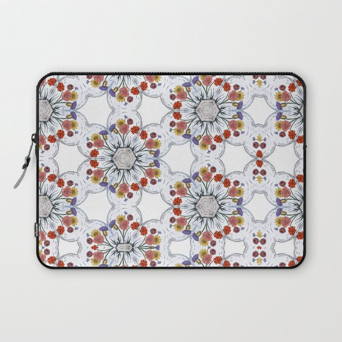 Blossom Pattern Flower Laptop Sleeve