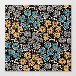 Mid Century Modern Flower Bouquet Pattern 945 Canvas Print