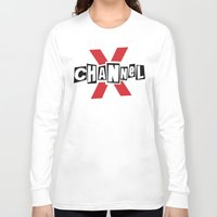 channel Long Sleeve T-shirts featuring Channel X by Popp Art