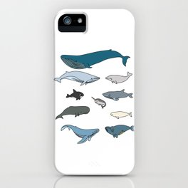 Types Of Whales iPhone Case
