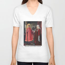 The Mattel-Zamolodchikova Wedding Unisex V-Neck
