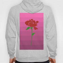 Rose on Dusty Pink Ombre Hoody