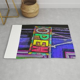 Psychedelic Open Sign Rug