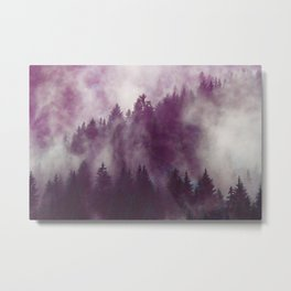 Clear life's mist to see beauty. Purple Metal Print