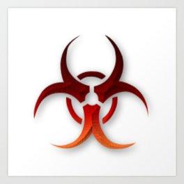 Rusty Biological Hazard Symbol Art Print
