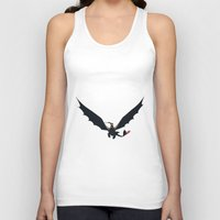 hiccup Tank Tops featuring Hiccup & Toothless by carolam