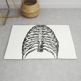 ribs bones skeleton halloween Rug