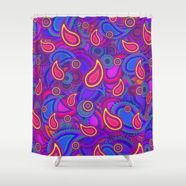 Purple Paisley Pattern Shower Curtain