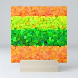 Sparkle Glitter Orange Mini Art Print