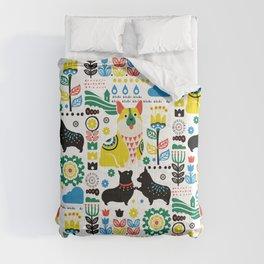 Scandinavian Corgi Comforters