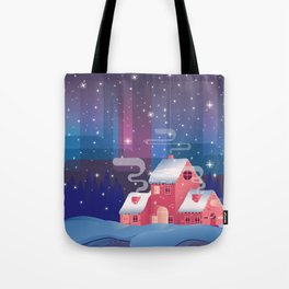 winter home. Happy new year Tote Bag