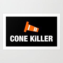 Cone Killer v3 HQvector Art Print