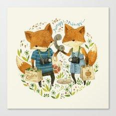 Fox Friends Canvas Print