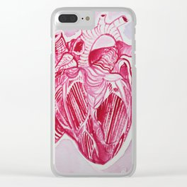 Red Heart Clear iPhone Case