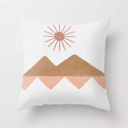 Desert view - simplification of long distance space Throw Pillow