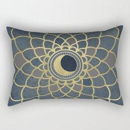 Mystical Moon Mandala Rectangular Pillow