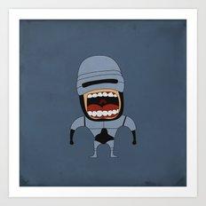 Screaming Robocop Art Print