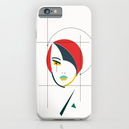 femme geometrical iPhone Case