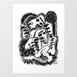 Break Apart - b&w Art Print