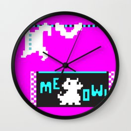Alley cat Wall Clock