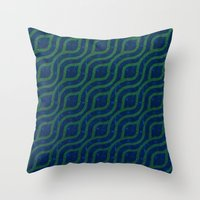 river Throw Pillows featuring River by Lyle Hatch