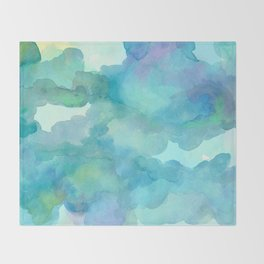 Breathing Under Water (Ocean Clouds) Throw Blanket