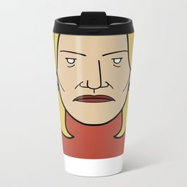 Face of Breaking Bad: Skyler White Metal Travel Mug