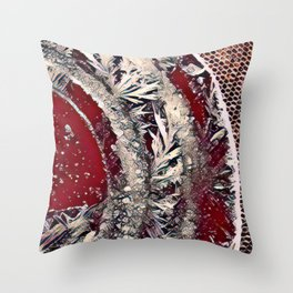 Got Frost Red Silver by CheyAnne Sexton Throw Pillow