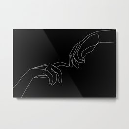 Touch in dark Metal Print