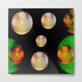GFTFancyBall176 / Fancy Ball Marble Art Metal Print