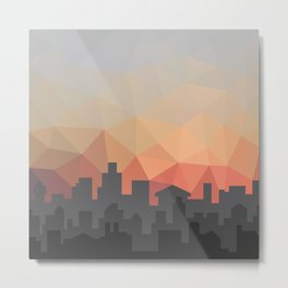 Sunset Cityscape Metal Print
