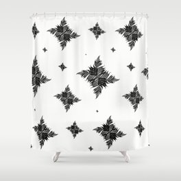 Charcoal Tree Fern Bottoms Up Shower Curtain
