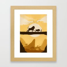 No Worries Framed Art Print