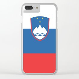 Slovenian Flag Clear iPhone Case