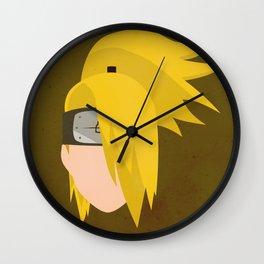 Deidara Simplistic Face Wall Clock