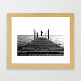 Living On The Edge Framed Art Print