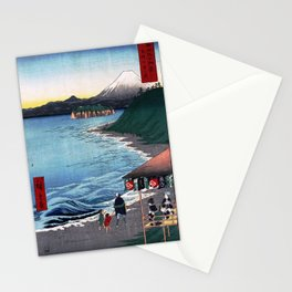 Hiroshige - 36 Views of Mount Fuji (1858) - 19: The Seven Ri Beach in Sagami Province Stationery Cards