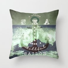 THE SAILOR QUOTE Throw Pillow
