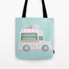 Ice Cream Truck Tote Bag